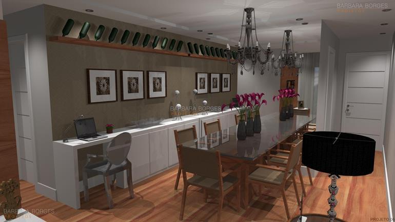 mesa de jantar retangular casas sala tv