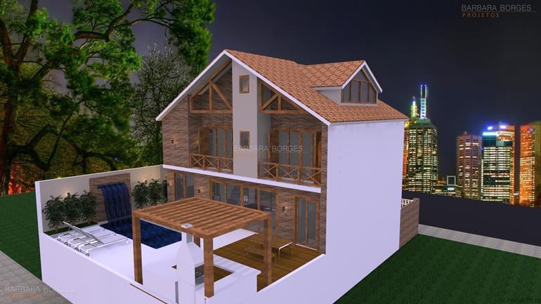 mesa de jantar retangular casas telhado colonial