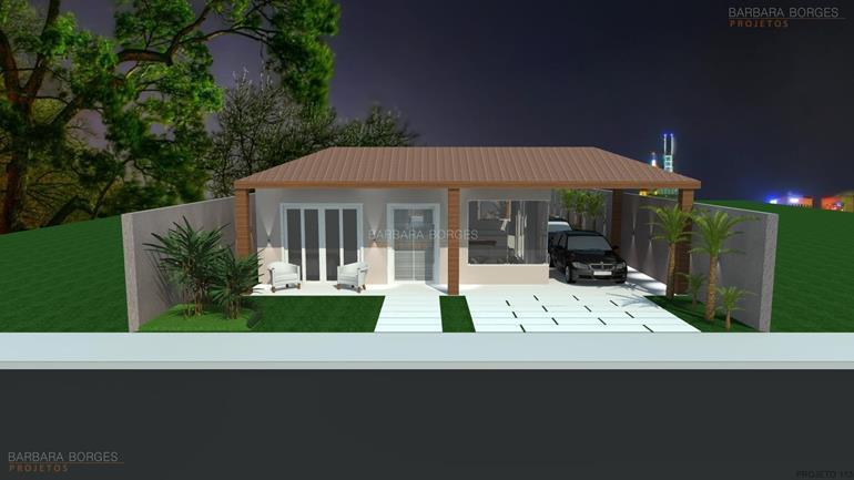 modelo de casa com 3 quartos casas telhado embutido