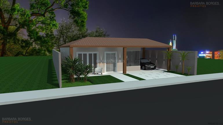 Casas telhado escondido barbara borges projetos for Modelos de fachadas para frentes de casas