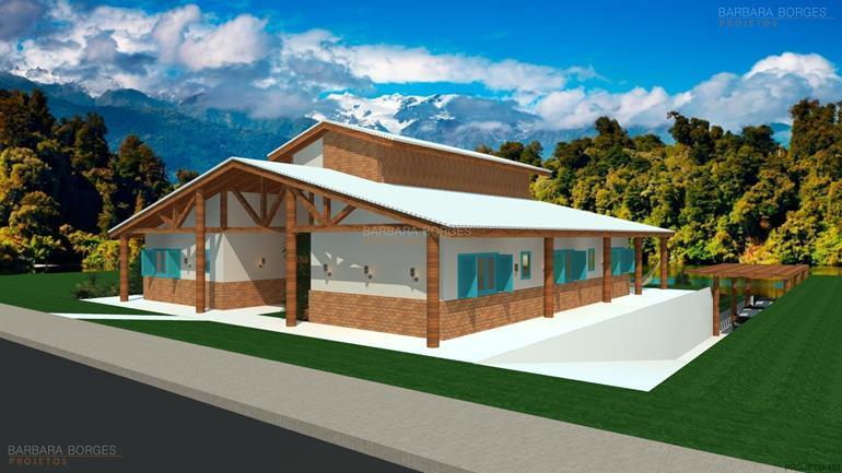 modelo de casa com 3 quartos casas varanda