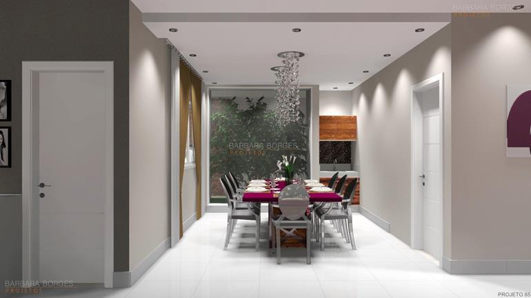 modelo de casa com 3 quartos conjunto mesa jantar