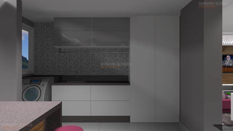 parede de quarto de bebe cozinha americana pequena