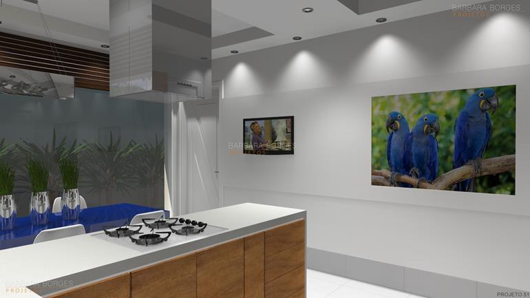 móveis projetados cozinha americana planejada