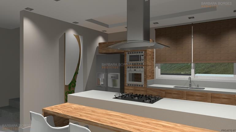 projetos de area de lazer cozinha completa