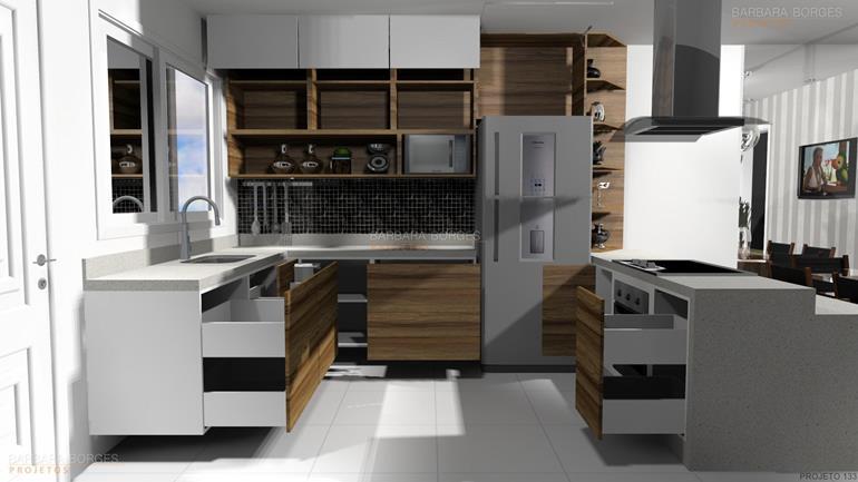 Cozinha Modulada Itatiaia  Barbara Borges Projetos # Cozinha Pequena Moldulada