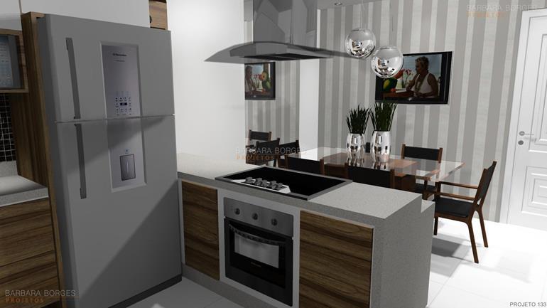quadro para sala de jantar cozinha planejada apartamento