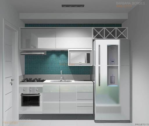 quarto para casal cozinha planejada apartamento