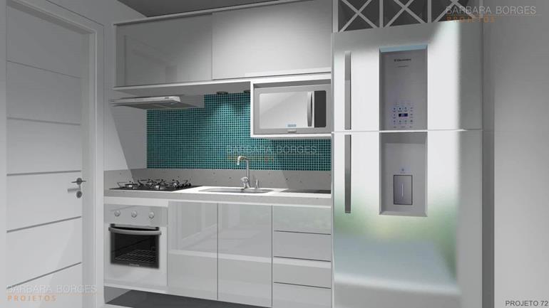 Cozinha planejada apartamento pequeno barbara projetos - Armario de 2 50 metros ...