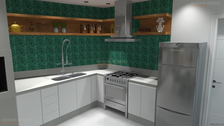 Cozinha Planejada Apartamento Pequeno Barbara Projetos ~ Quarto Planejada Para Apartamento