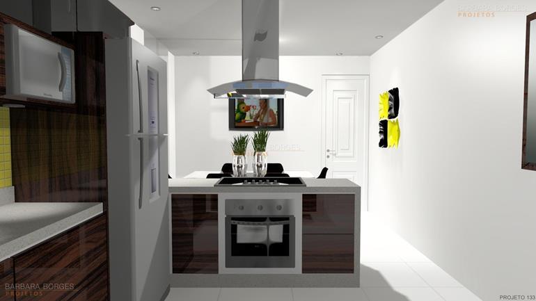 Cozinha Planejada Pequena Barbara Borges Projetos ~ Quarto Planejado Dellano