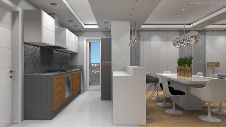 quarto para casal cozinha planejada pequena