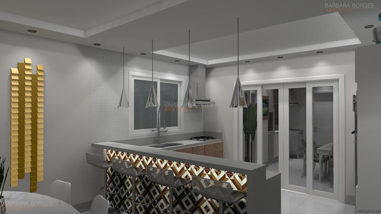 projeto casas pequenas cozinha sob medida