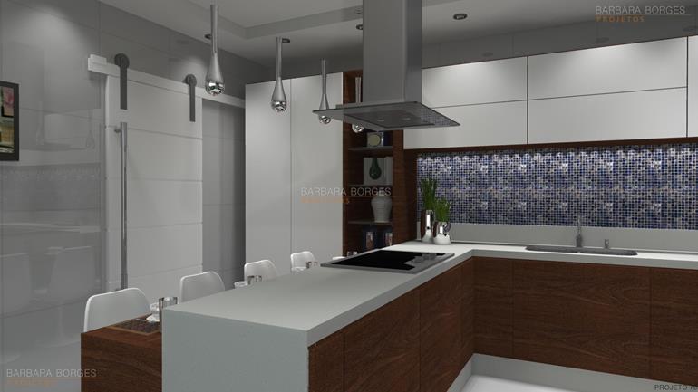 projeto casas pequenas cozinhas americanas