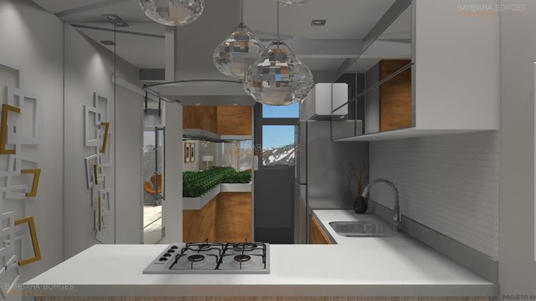 projetos de kitinetes cozinhas colormaq