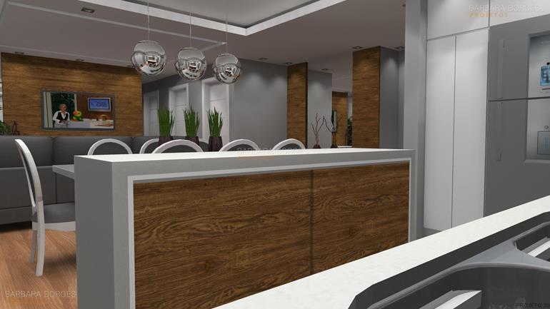salas decoração cozinhas gourmet