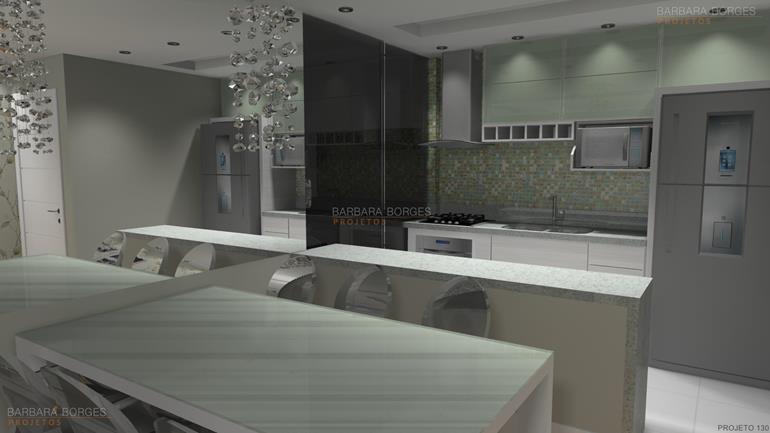 projeto em 3d cozinhas pequenas