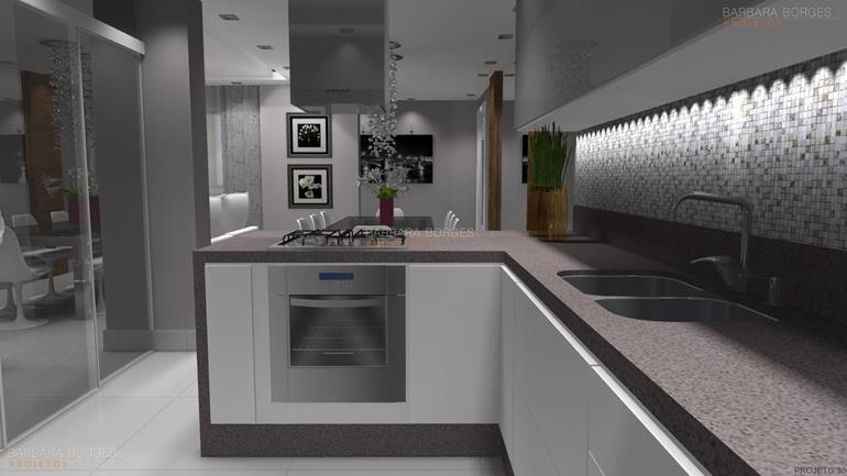 projeto de restaurante cozinhas planejadas apartamentos pequenos