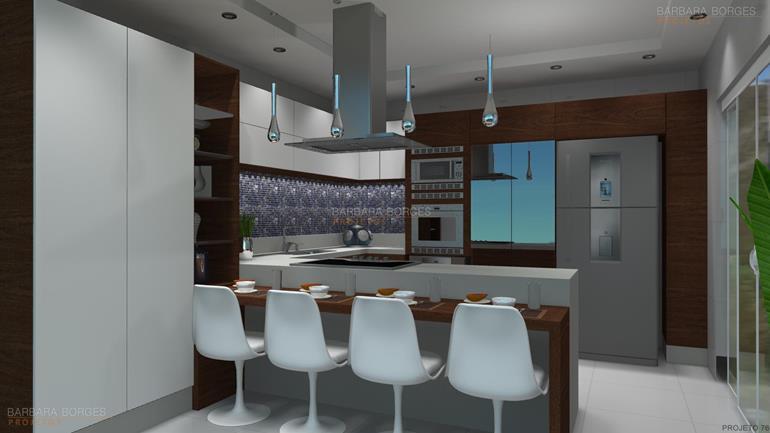 áreas de lazer cozinhas planejadas fotos