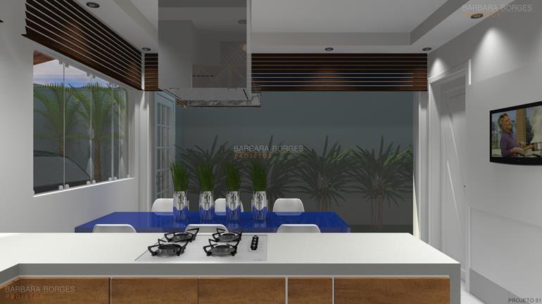 áreas de lazer cozinhas planejadas pequenas