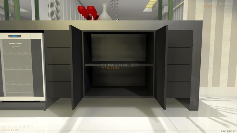 armários embutidos decoração ambientes pequenos