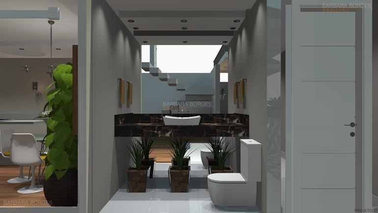 Decoração Banheiro Pequeno  Barbara Borges Projetos -> Banheiros Planejados Goiania