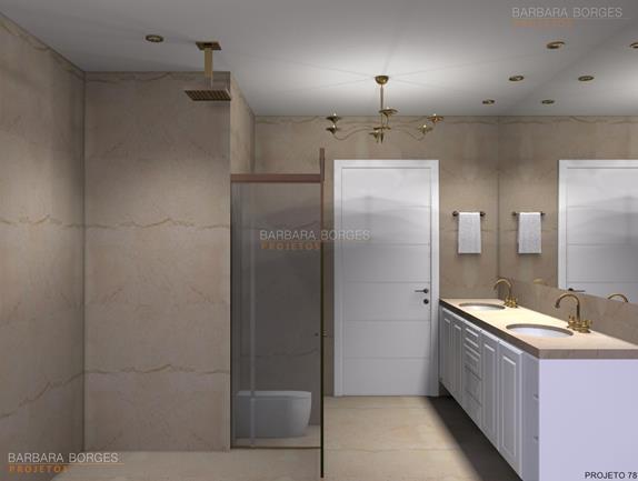armários embutidos decoração banheiros