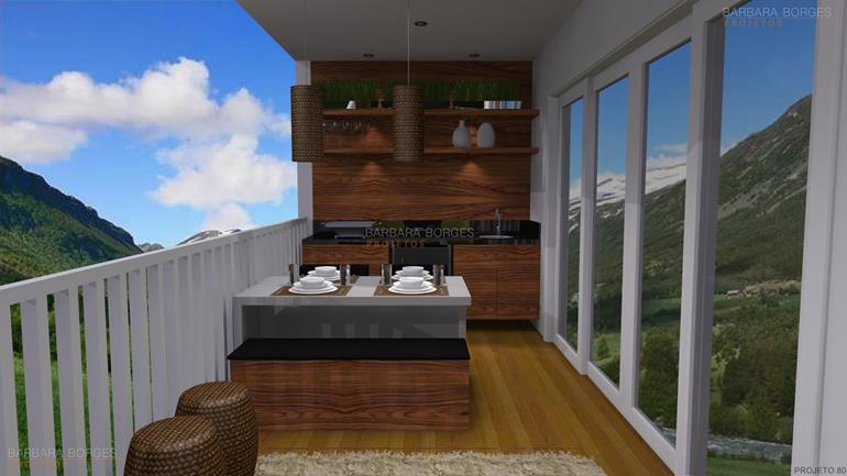cozinha com area de serviço decoração jardim