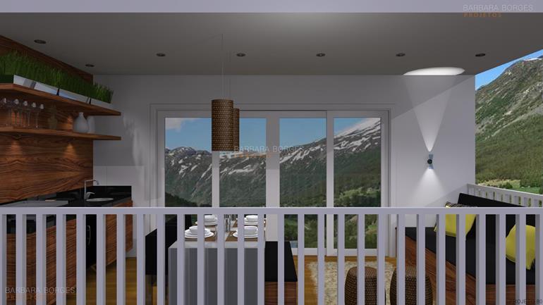 cozinha e sala decoração jardins