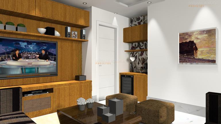 espelhos sala de jantar decorar casa praticidade projeto 3D