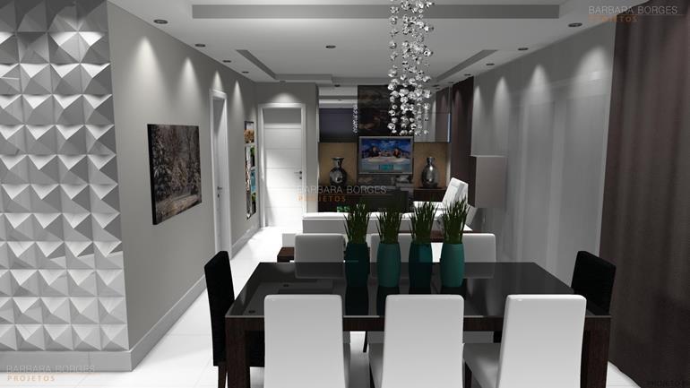 mesa de jantar triangular decorar sala pequena