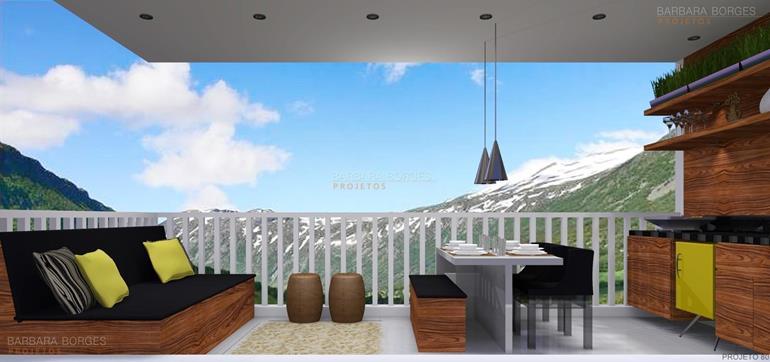 moveis para varanda de apartamento espaço gourmet
