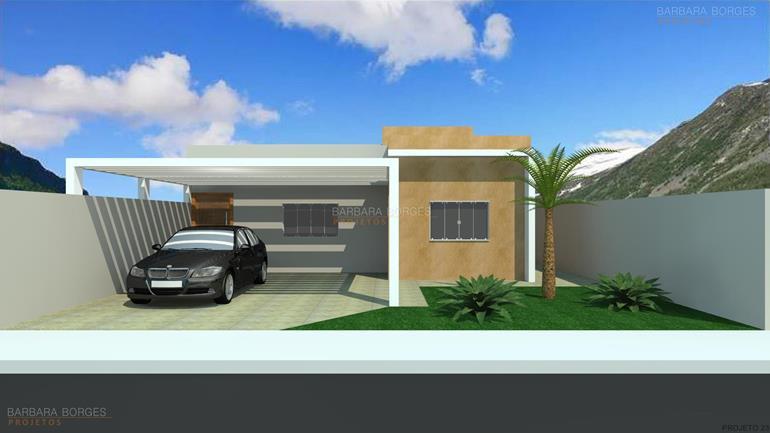 Fachadas casas terreas barbara borges projetos for Modelos de fachadas para frentes de casas