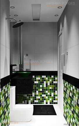 projetos de quartos de casal fotos banheiros pequenos