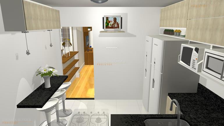 projeto de cozinha pequena fotos cozinha americana
