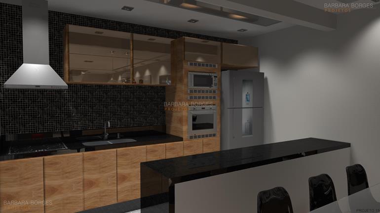 projeto de cozinha pequena fotos cozinhas americanas