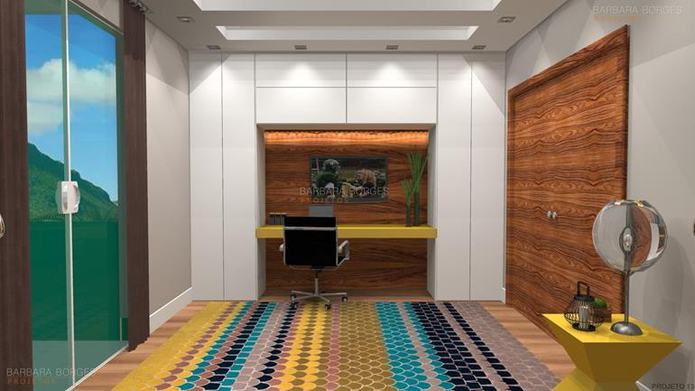 sala de estar planejada guarda roupas modulados