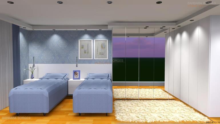 quartos para jovens guarda roupas planejados