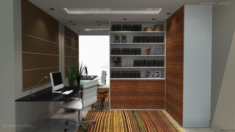 sacada decorada home office pequeno