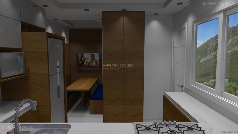 sala de estar planejada imagens cozinha americana