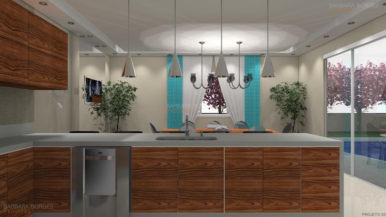 sala de jantar planejada imagens cozinha americana