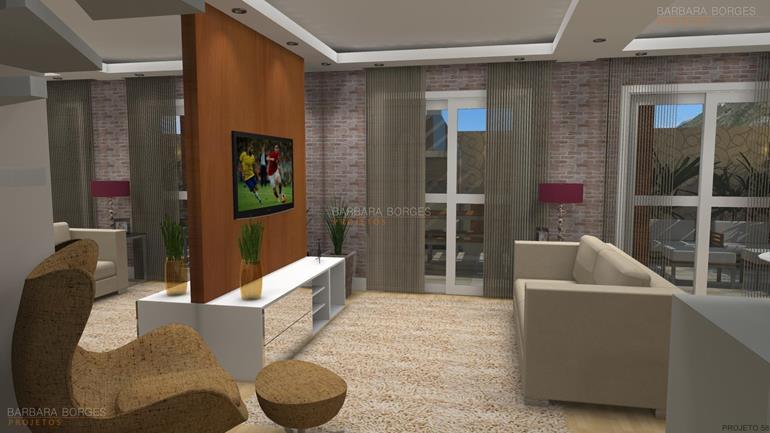 sala de estar com sala de jantar interiores casas