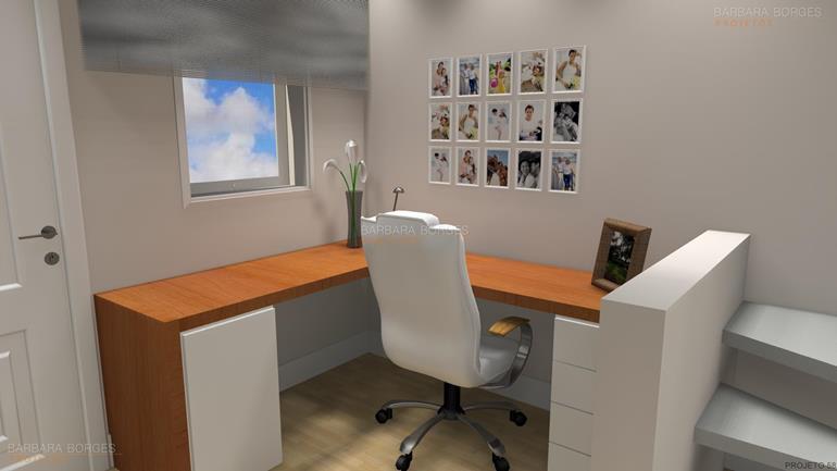 banheiro reformado mesas escritorio