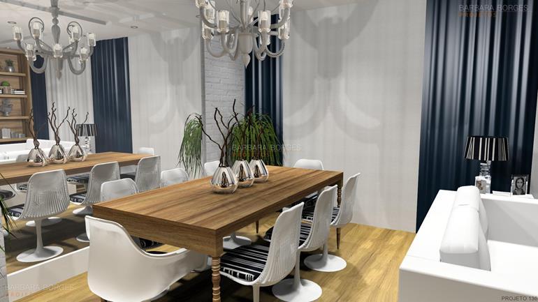 banheiros pequenos decoração mesas jantar modernas