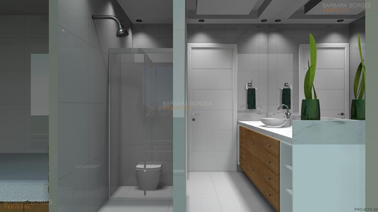 banheiros pequenos decoração modelo banheiro