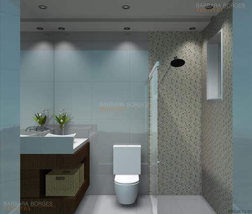 Modelo Banheiro  Barbara Borges Projetos -> Banheiro Pequeno Metragem