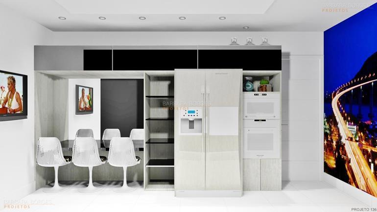 closets modulados modelo cozinha americana