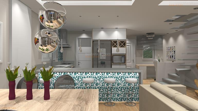 como decorar quartos pequenos modelo cozinha americana