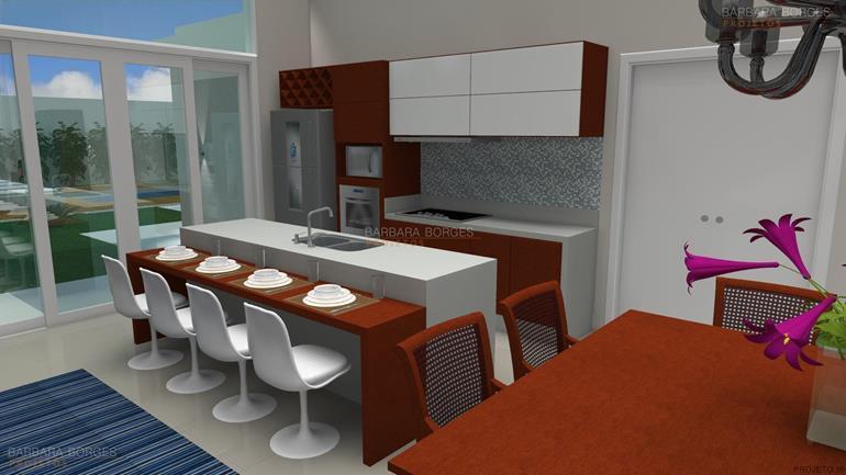 cozinha e sala de jantar modelo cozinha americana
