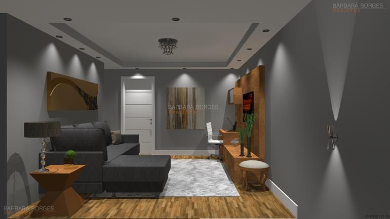 como decorar quartos pequenos modelo sala
